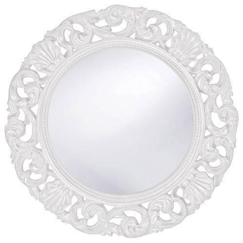 Popular Photo of White Round Mirrors