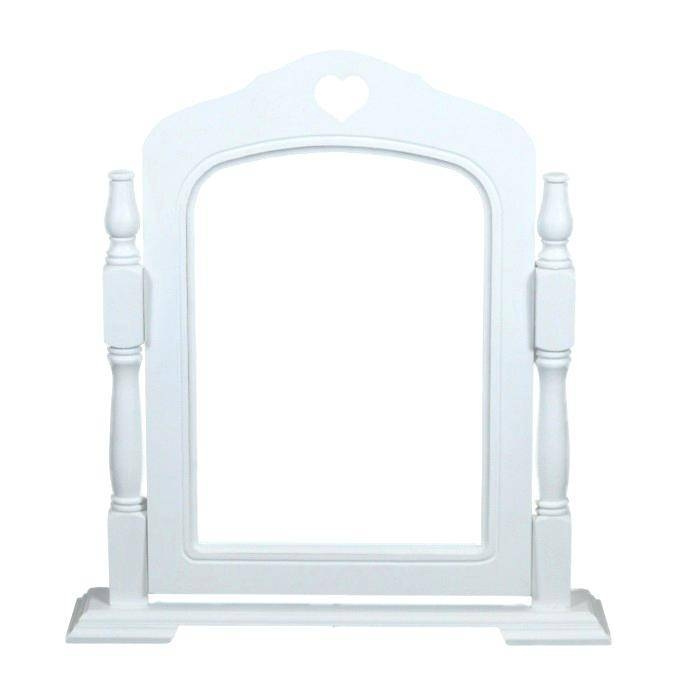 White Makeup Dressing Table W 3 Mirrors Stoolwhite With Mirror And Intended For Mirrors On Stand For Dressing Table (#30 of 30)