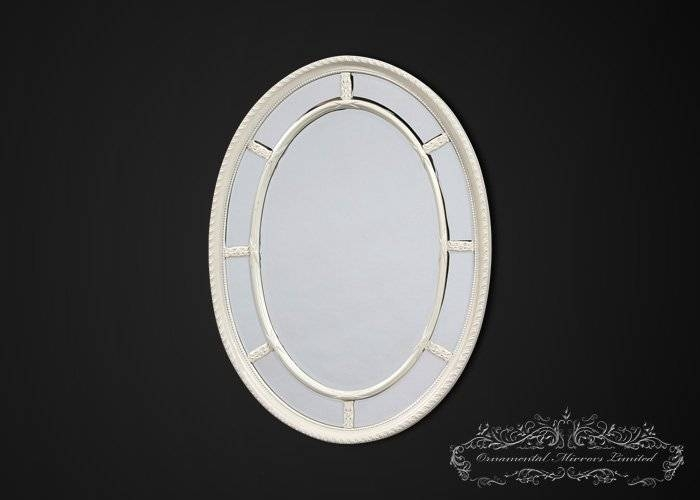White Mirrors, Cream Mirrors With Oval Cream Mirrors (#29 of 30)