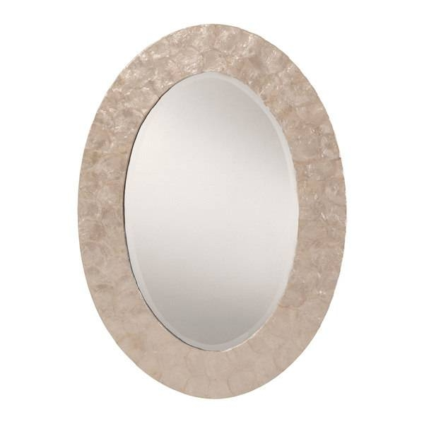 White Mother Of Pearl Finished Frame Decorative Beveled Wall With Mother Of Pearl Wall Mirrors (#30 of 30)