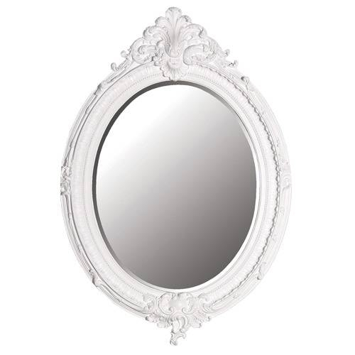 White Oval Ornate Mirror – The Hidden Jem Pertaining To White Ornate Mirrors (#19 of 20)
