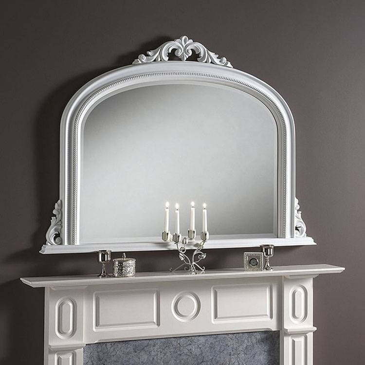 Popular Photo of White Overmantle Mirrors