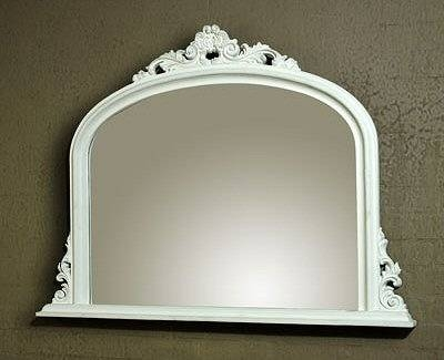 White Overmantle Mirror | French Mirror Company Regarding Overmantle Mirrors (#20 of 20)