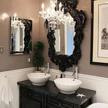 White Rococo Mirror Design Ideas Regarding Black Rococo Mirrors (#30 of 30)