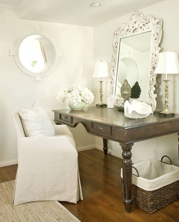 White Rococo Mirror – Transitional – Den/library/office Inside White Rococo Mirrors (#19 of 20)