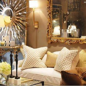 White Rococo Mirrors – Contemporary – Living Room – Woodson Regarding Large White Rococo Mirrors (#30 of 30)