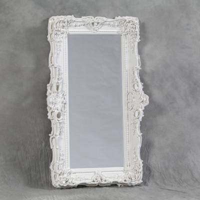 White Small Ornate French Mirror In White Ornate Mirrors (#20 of 20)