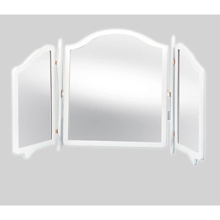 White Triple Fold Dressing Table Mirror 95 X 64 Cm White Triple Within Triple Mirrors (#30 of 30)