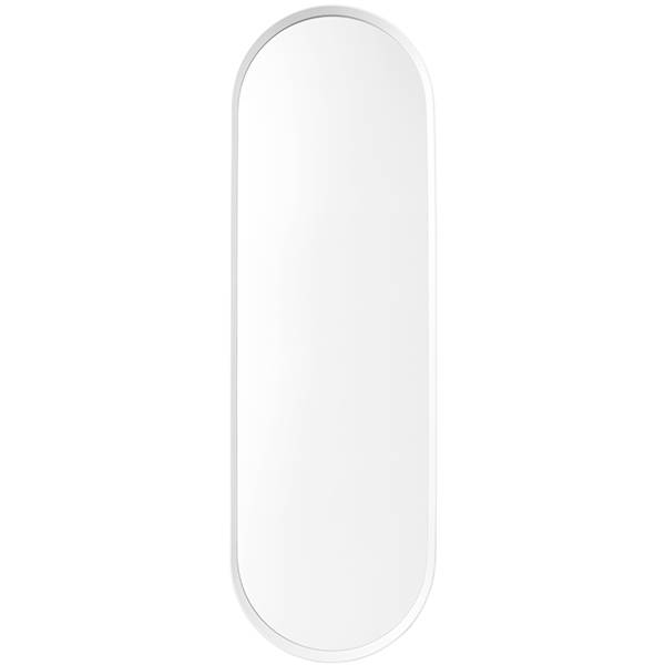 White Wall Mirror Within Oval White Mirrors (#30 of 30)