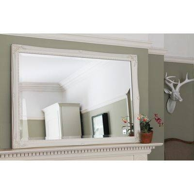 Inspiration about White/ivory Ornate Mirrors, Classic Mirrors & Stylish Mirrors Pertaining To White Overmantle Mirrors (#13 of 30)