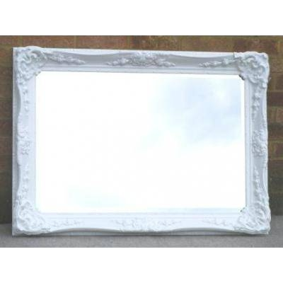 White/ivory Ornate Mirrors, Classic Mirrors & Stylish Mirrors Throughout White Overmantle Mirrors (#29 of 30)