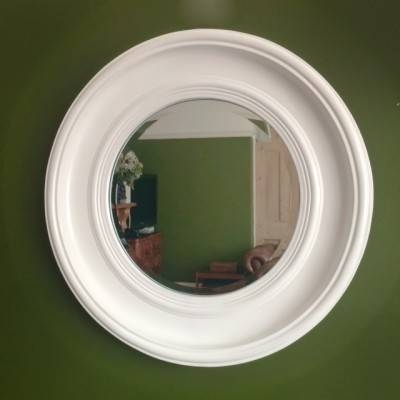 White/ivory Round Mirrors – Ayers & Graces Online Antique Style With Round White Mirrors (#30 of 30)