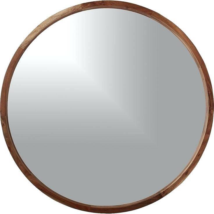Whitelarge Round Mirror Wooden Frame Large Wood – Shopwiz Within Large Round Wooden Mirrors (#20 of 20)