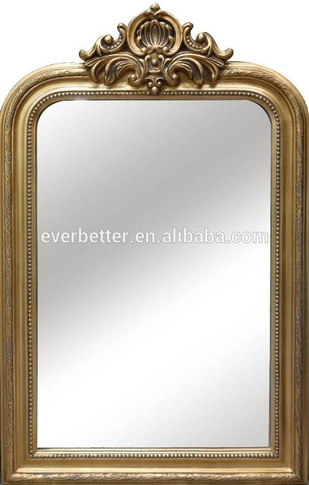 Wholesale Fancy Home Decor Wall Mirror Antique Gold Leaf Crown For Fancy Wall Mirrors (#20 of 20)