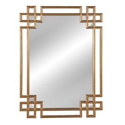 Willa Arlo Interiors Rectangle Gold Wall Mirror & Reviews | Wayfair Intended For Gold Wall Mirrors (View 11 of 30)