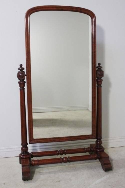 William Iv Antique Full Length Cheval Mirror | 64822 For Full Length Cheval Mirrors (View 1 of 20)