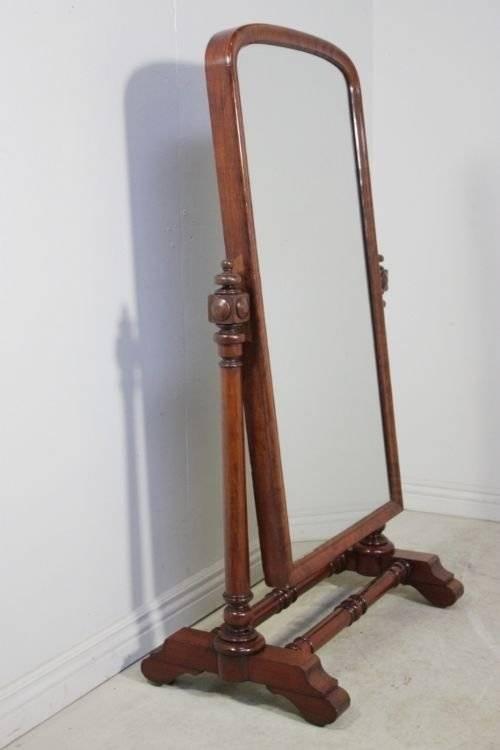 William Iv Antique Full Length Cheval Mirror   64822 With Full Length Antique Mirrors (#29 of 30)