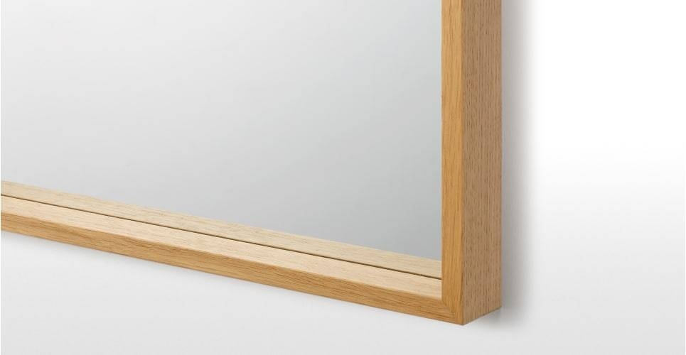 Wilson Wall Mirror 50 X 70Cm, Oak | Made In Oak Wall Mirrors (#13 of 15)