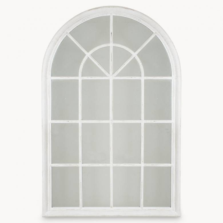 Wilton White Arched Window Mirror | One World For White Arched Window Mirrors (#20 of 20)