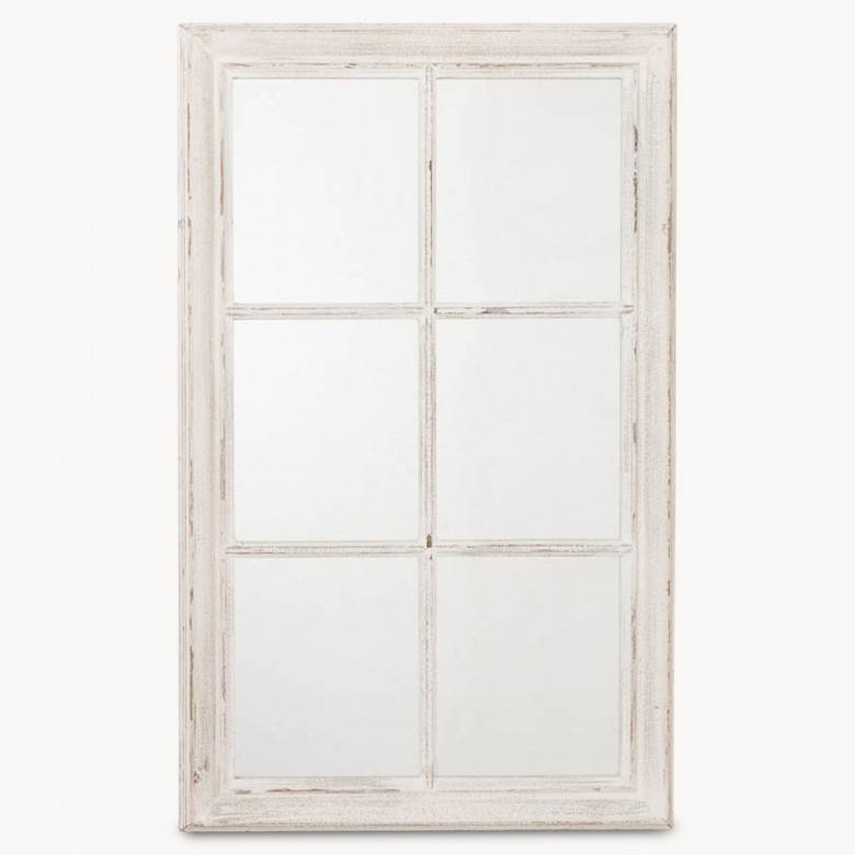 Wilton White Panel Window Mirror | One World Intended For Window Mirrors (#27 of 30)