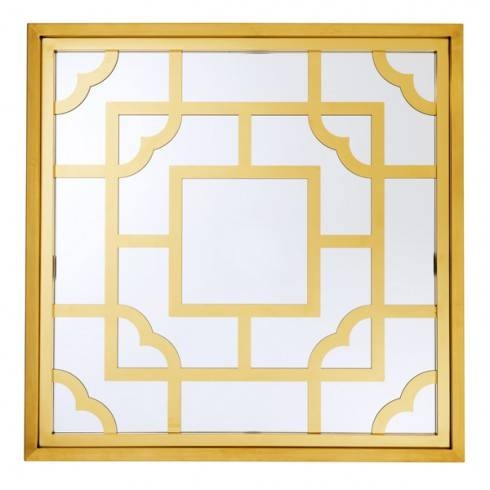 With Square Framing Finishing And Gold Mirrors 24 Square Gold Frame For Square Gold Mirrors (#19 of 20)