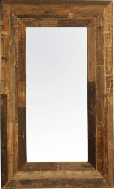 Wood Framed Mirrors: Sleek And Stylish – In Decors Throughout Wooden Mirrors (#25 of 30)
