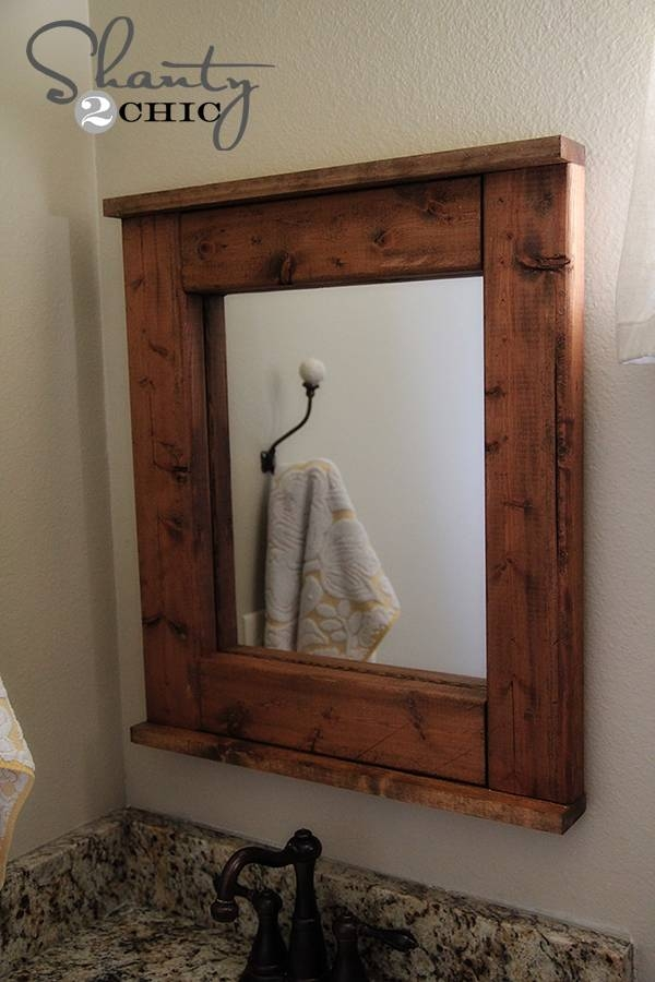 Wood Mirror – Diy – Shanty 2 Chic In Wooden Mirrors (#27 of 30)