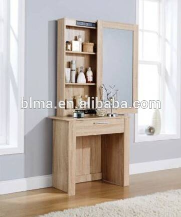 Wooden Dressing Table With Full Length Mirror, Wooden Dressing In Dressing Table With Long Mirrors (View 15 of 15)