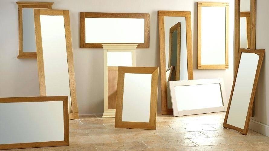 Wooden Full Length Mirroroak Framed Wall Mirror Oak – Shopwiz Within Oak Wall Mirrors (#15 of 15)
