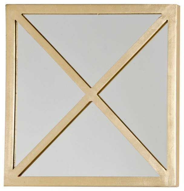"""Worlds Away Square """"x"""" Mirror Mirtacxg S – Modern – Wall Mirrors Pertaining To Square Gold Mirrors (#20 of 20)"""