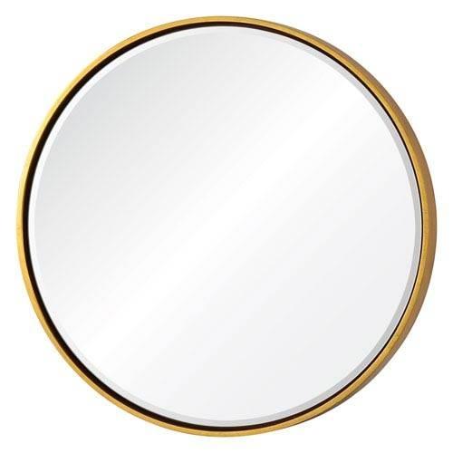 Wren Gold Round Mirror Cooper Classics Wall Mirror Mirrors Home Decor In Gold Round Mirrors (View 3 of 20)