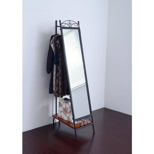 Wrought Iron Floor Standing Mirror (End 7/28/2017 11:13 Am) Throughout Wrought Iron Standing Mirrors (#9 of 20)