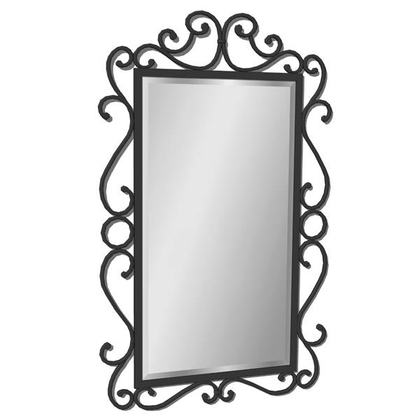 Wrought Iron Mirror 02 3D Model – Formfonts 3D Models & Textures Regarding Black Wrought Iron Mirrors (#16 of 20)