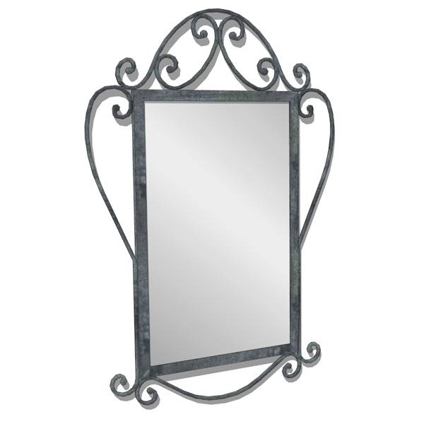Wrought Iron Mirror 3D Model – Formfonts 3D Models & Textures Pertaining To Black Wrought Iron Mirrors (View 15 of 20)