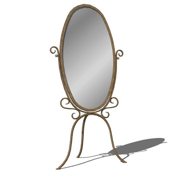 Wrought Iron Standing Mirror 3D Model – Formfonts 3D Models & Textures In Wrought Iron Standing Mirrors (#11 of 20)