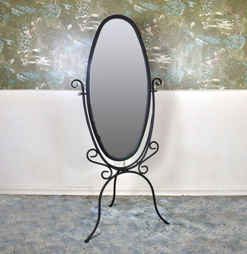 Wrought Iron Standing Mirror 95 Outstanding For – Harpsounds (#16 of 20)