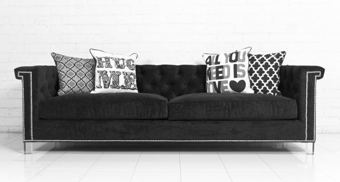 Wwwroomservicestore Sinatra Sofa In Black Velvet With Black Velvet Sofas (#15 of 15)