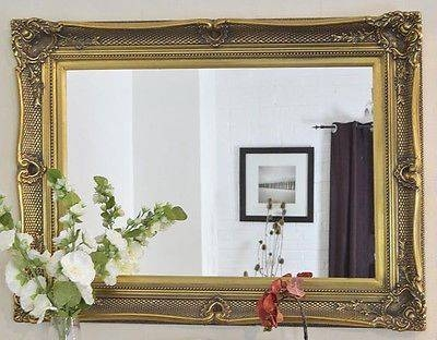 X Large Black Decorative Ornate Mirror – Other Frame Colours Available Regarding Large Gold Ornate Mirrors (View 30 of 30)