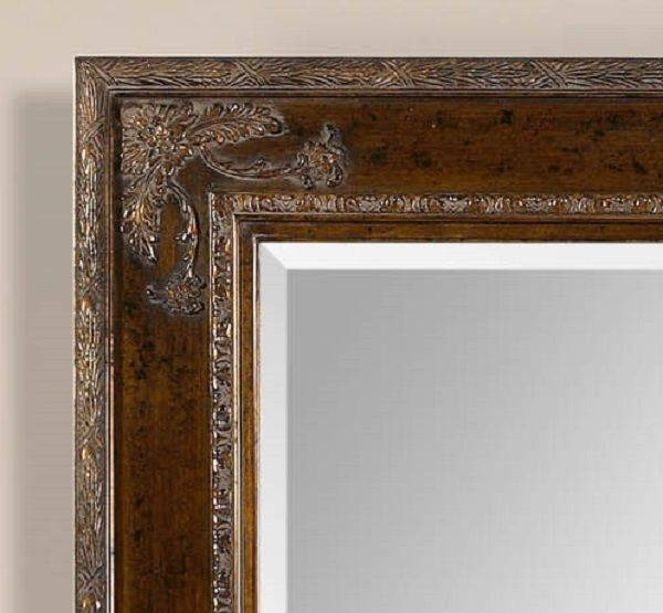 Xl Large French Style ~ Ornate Wood W/ Gold Mirror ~ Wall Full For Full Length Ornate Mirrors (#30 of 30)