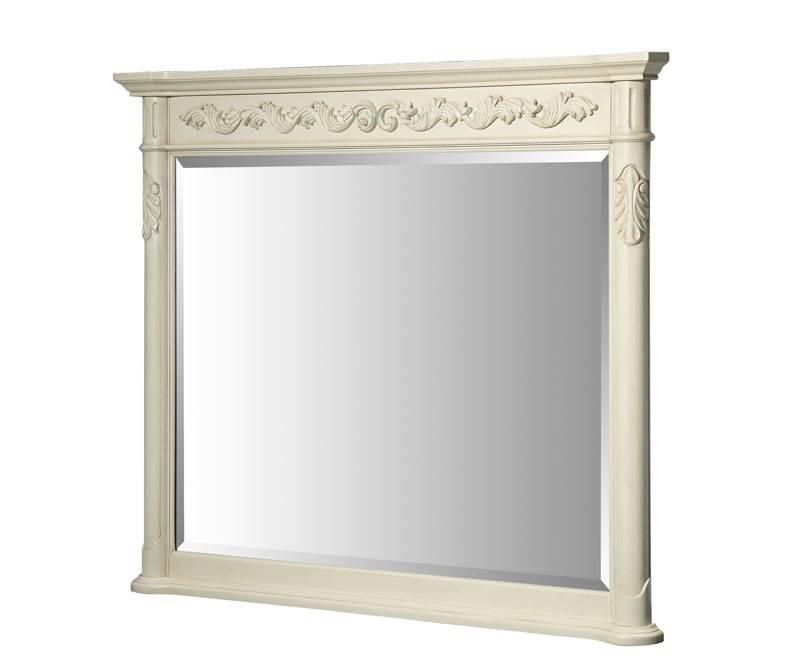 Xylem Windsor 46 Inch Antique Bathroom Mirror, Antique Bisque Finish Regarding Antique Bathroom Mirrors (#20 of 20)