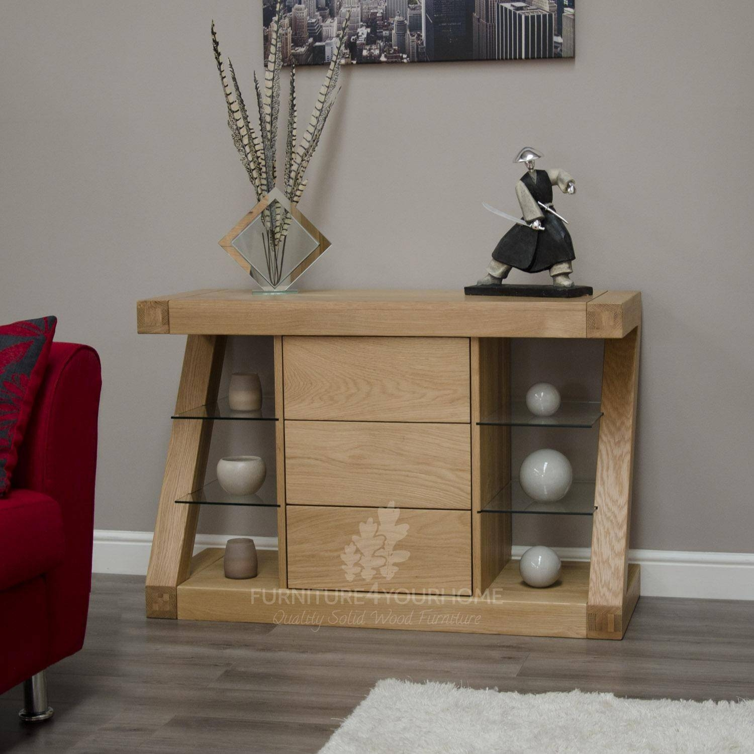 Z Oak Designer Small Sideboard | Furniture4yourhome Within Contemporary Oak Sideboard (View 18 of 20)