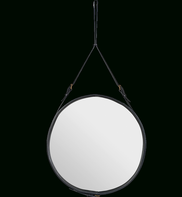 Inspiration about Ze Interior Designs: Round Leather Mirroradnet Pertaining To Round Leather Mirrors (#14 of 30)