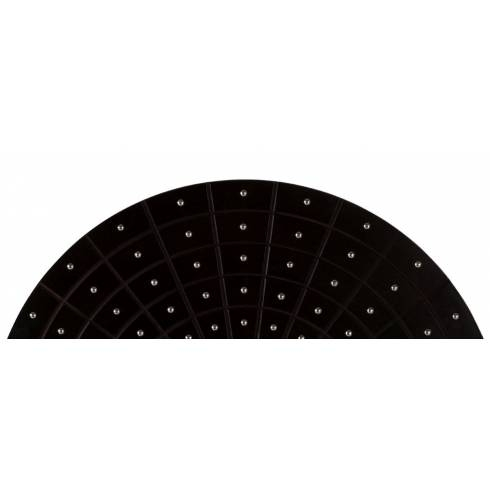 Inspiration about Zest Round Black Faux Leather Mirror | Chrome Studs In Black Faux Leather Mirrors (#20 of 20)