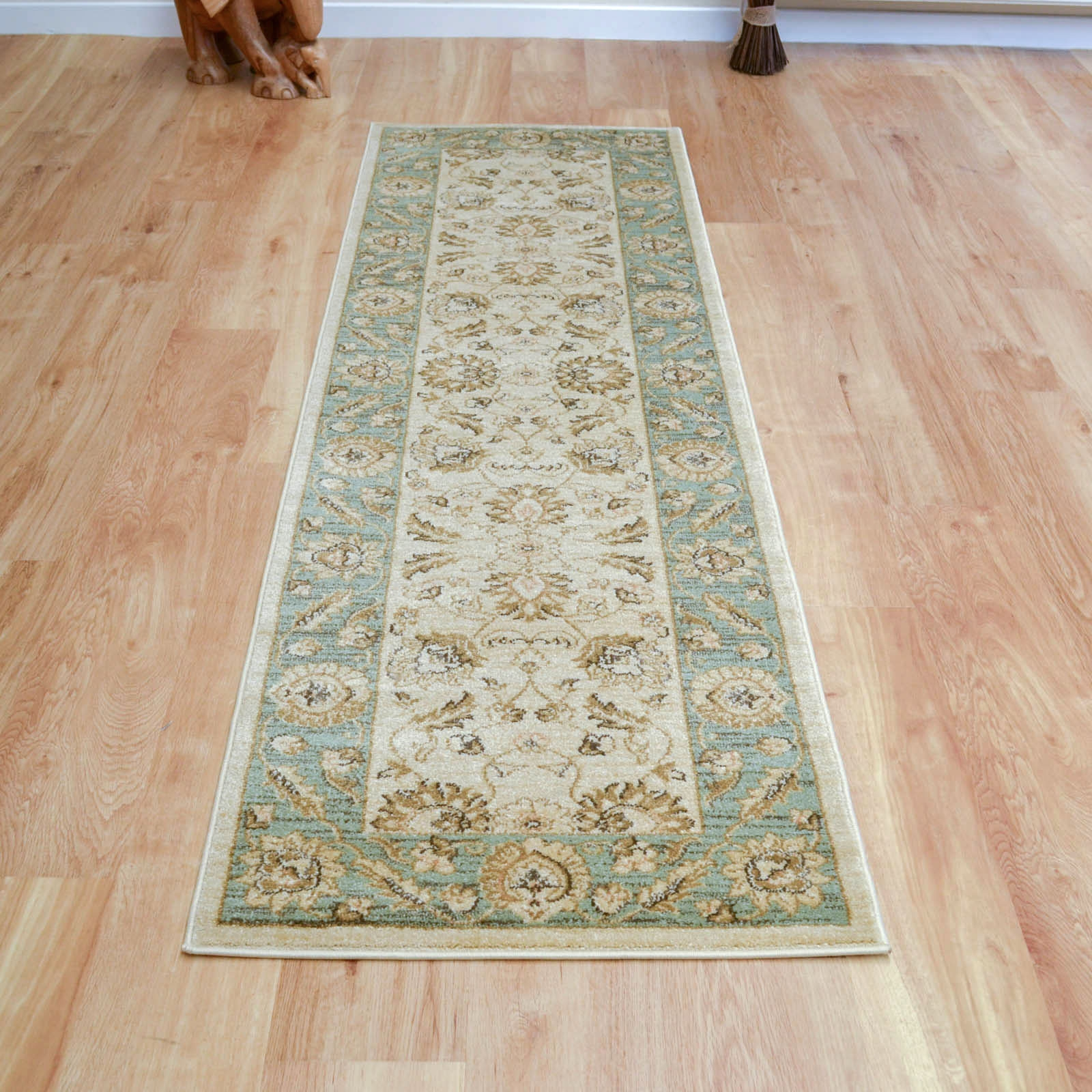 Inspiration about Ziegler Hallway Runner 7709 In Cream And Green Free Uk Delivery In Hall Runners Green (#2 of 20)