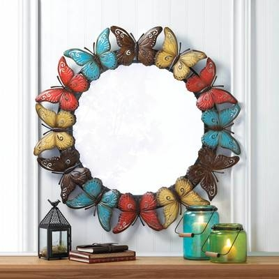 Zingz & Thingz Butterfly Wall Mirror & Reviews | Wayfair Pertaining To Butterfly Wall Mirrors (#20 of 20)