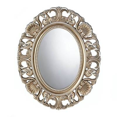 Inspiration about Zingz & Thingz Gilded Oval Wall Mirror & Reviews | Wayfair Within Oval Wall Mirrors (#20 of 20)