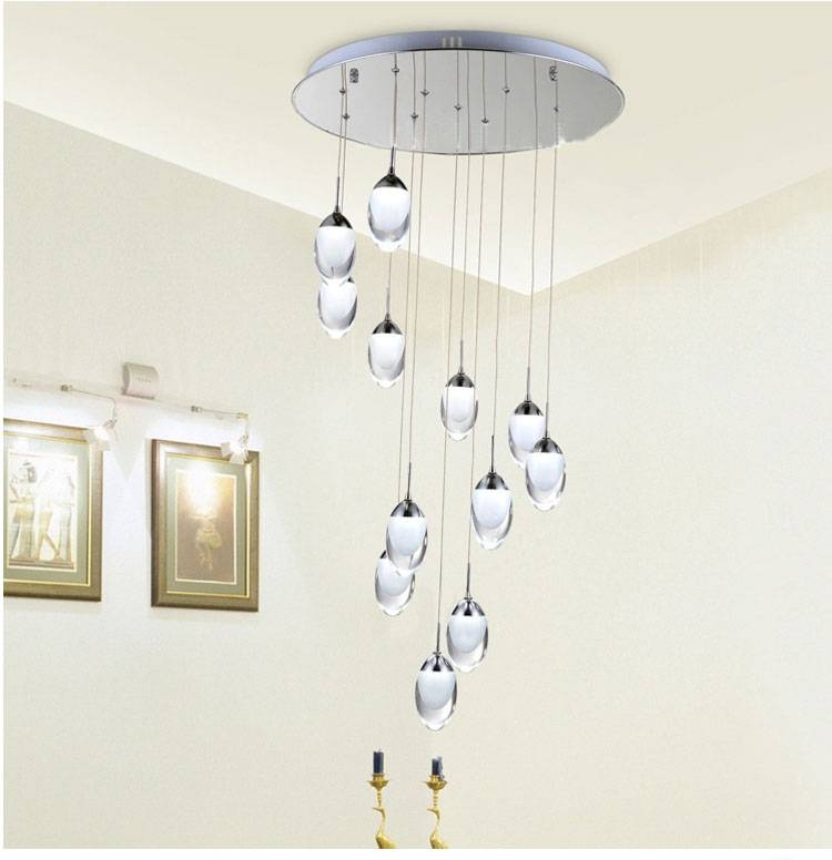 Inspiration about 1.5 2.5M Meteor Shower Pendant Lights With Led Strip Lightsource Inside Pendant Lights Stairwell (#1 of 15)