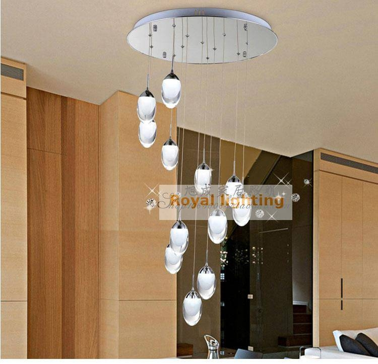 Inspiration about 1.5 2.5M Meteor Shower Pendant Lights With Led Strip Lightsource Throughout Pendant Lights For Stairwell (#9 of 15)