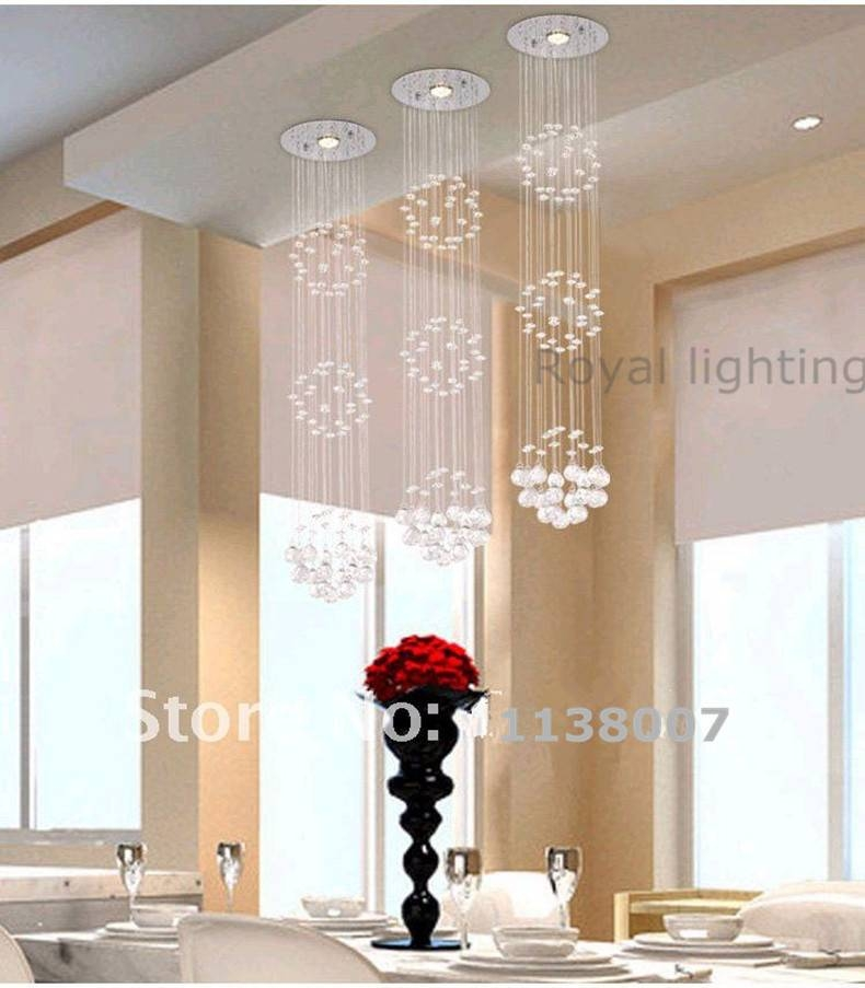 1 Pcs Dining Room Pendant Crystal Lamp Extra Long Hanging Light Within Extra Long Pendant Lights (#2 of 15)