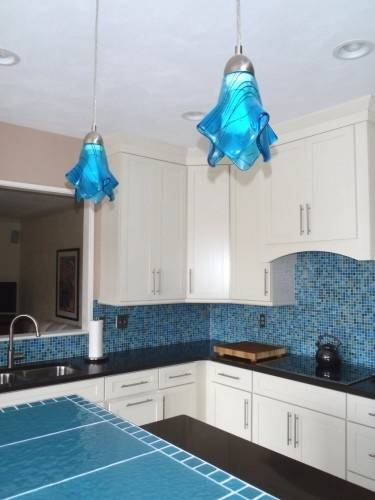 Inspiration about 105 Best Sea Glass Lighting Images On Pinterest | Glass Pendants Inside Aqua Pendant Lights Fixtures (#5 of 15)